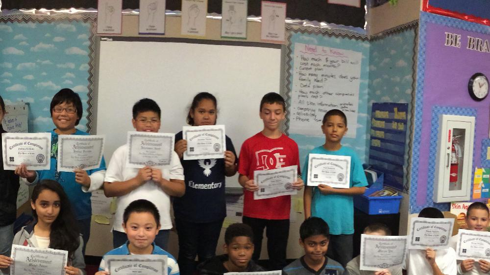 Students with Certificates of Completion of Hour of Code